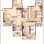 2 Bedroom + 2 Toilet + Study App. Super Area=1225 SQ. FT.