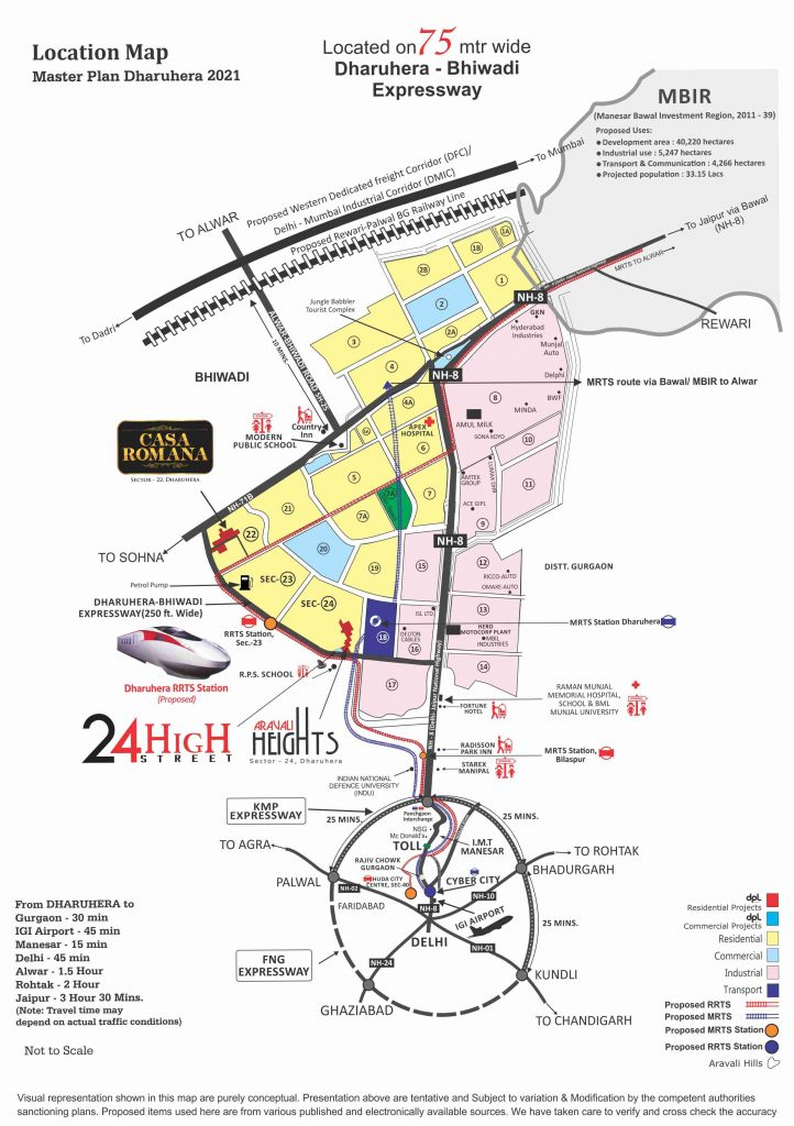 Dharuhera Location Map